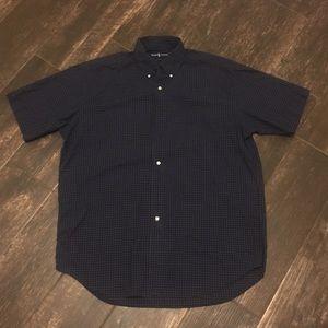 Ralph Lauren Blue/Black Checkered Button Down